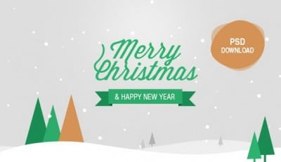 Christmas and New Year Greeting Card PSD - cssauthor.com