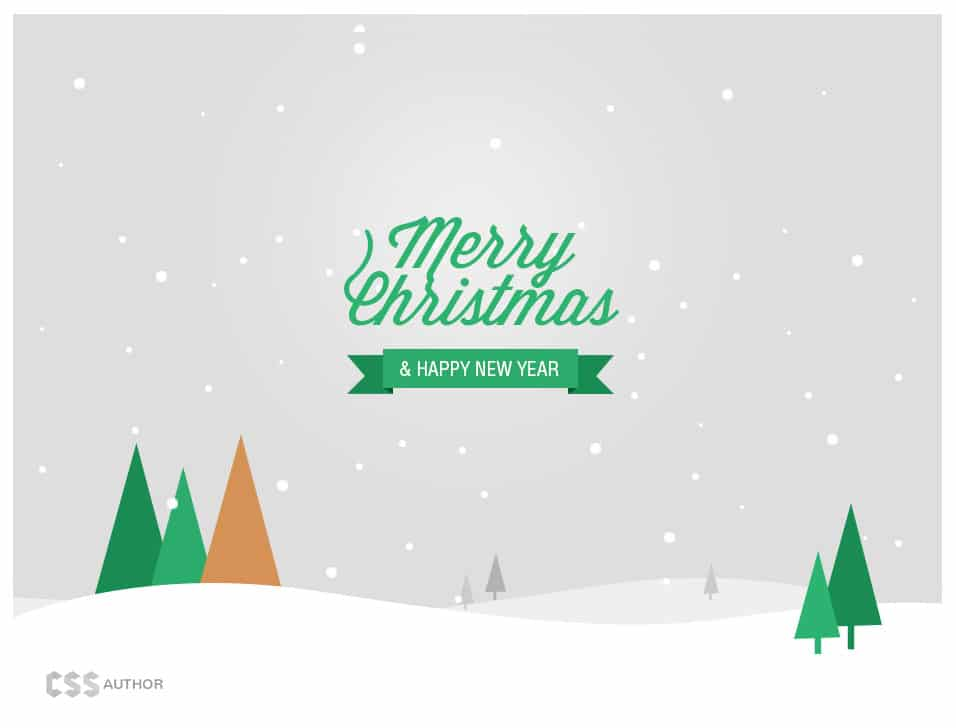 Christmas And New Year Greeting Card Psd  Css Author