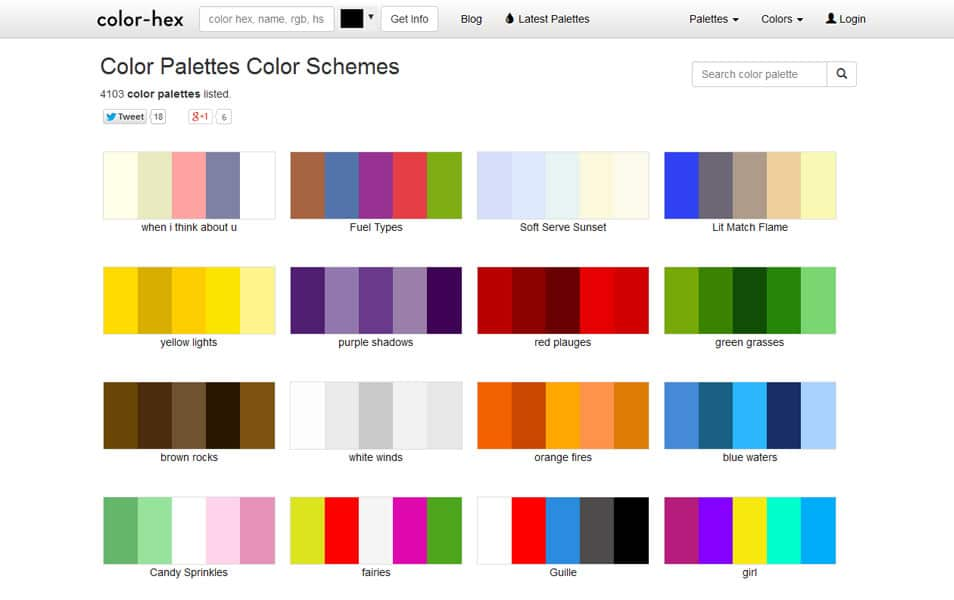 Adobe Color Palette Picker