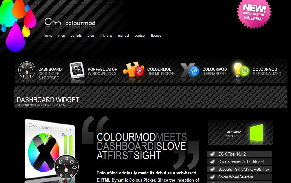 ColourMod Dashboard Widget