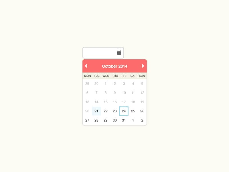Date Picker PSD