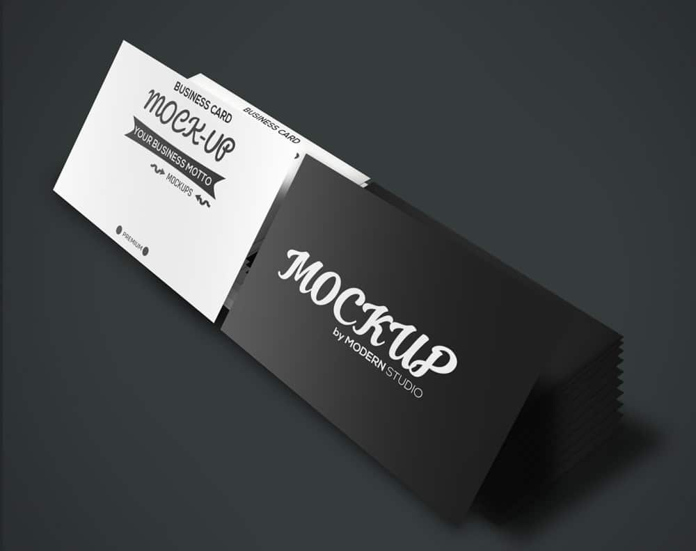 100 Free Business Card Mockup PSD CSS Author