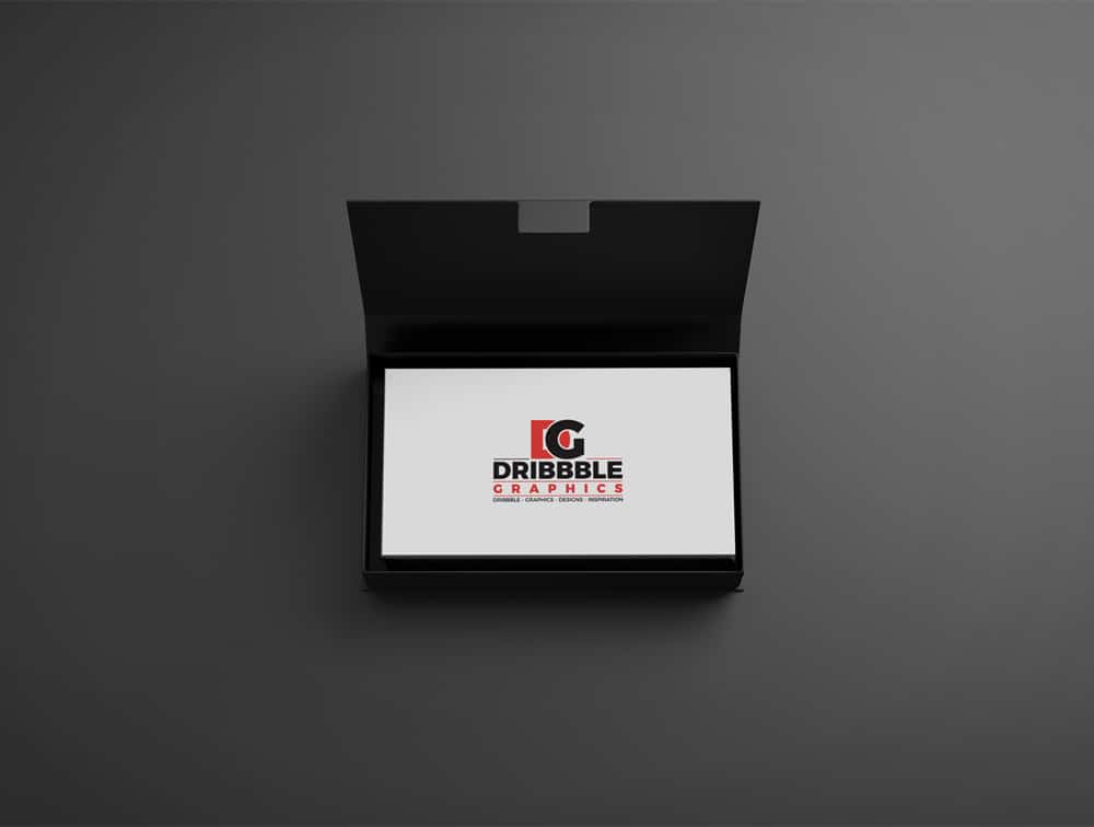 Free Business Cards in Box Mockup
