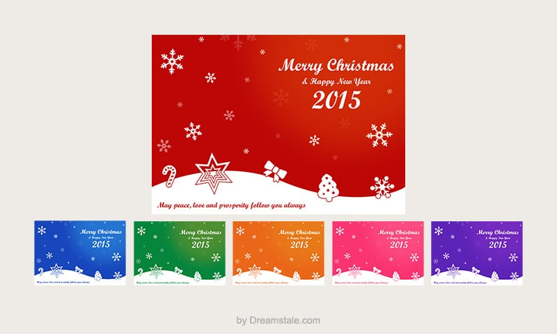 Free Christmas Card Vectors