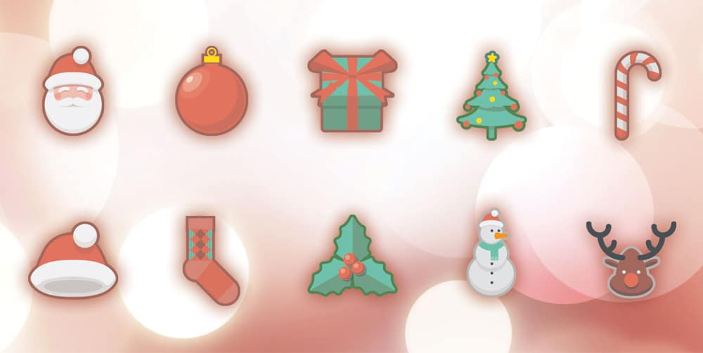 Free Christmas Holidays Icons PSD