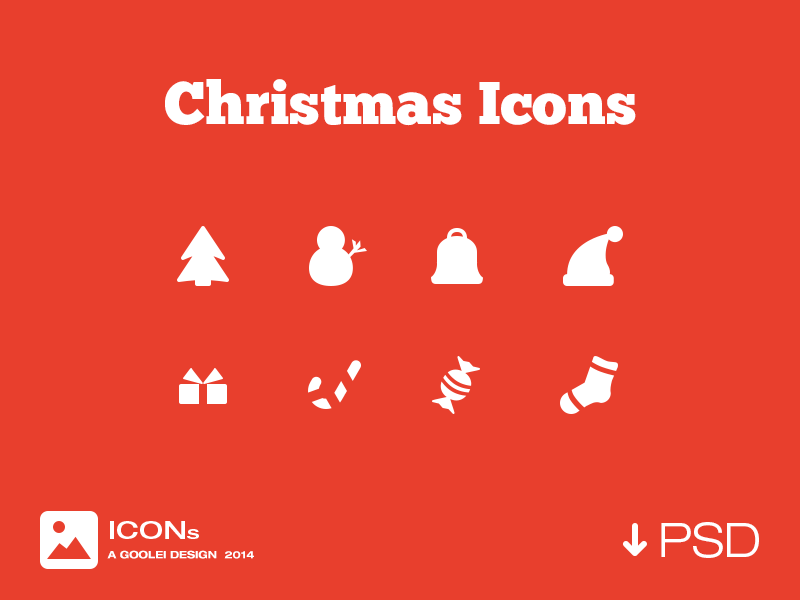 Free Christmas Icons PSD