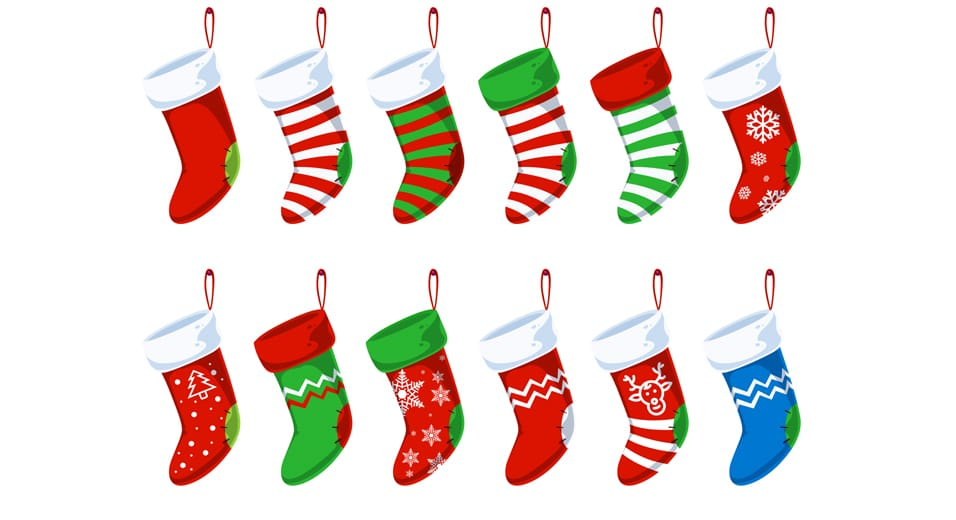 Free Christmas Stocking PSD