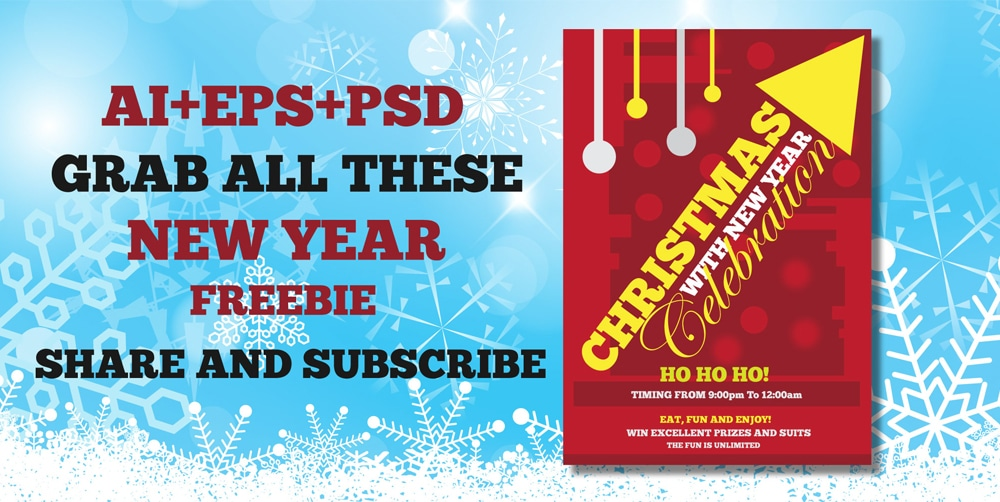 Free Christmas and New Year Flyer