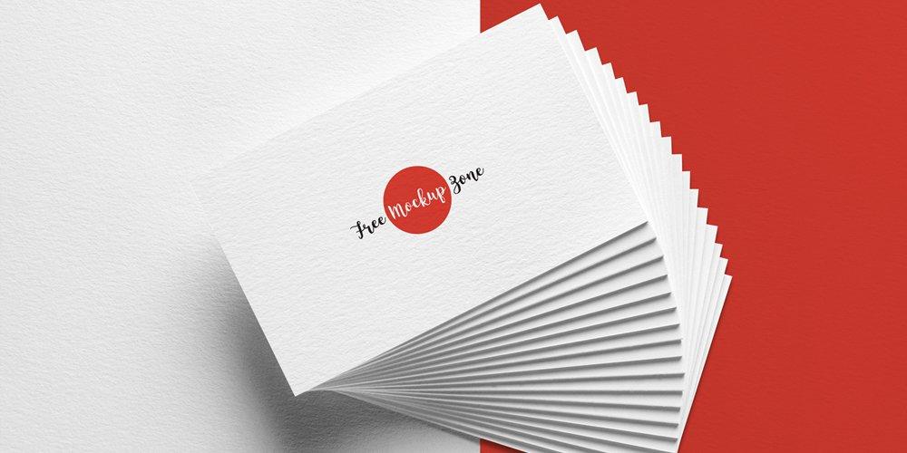 Free Elegant Business Card Mockup on Texture Background