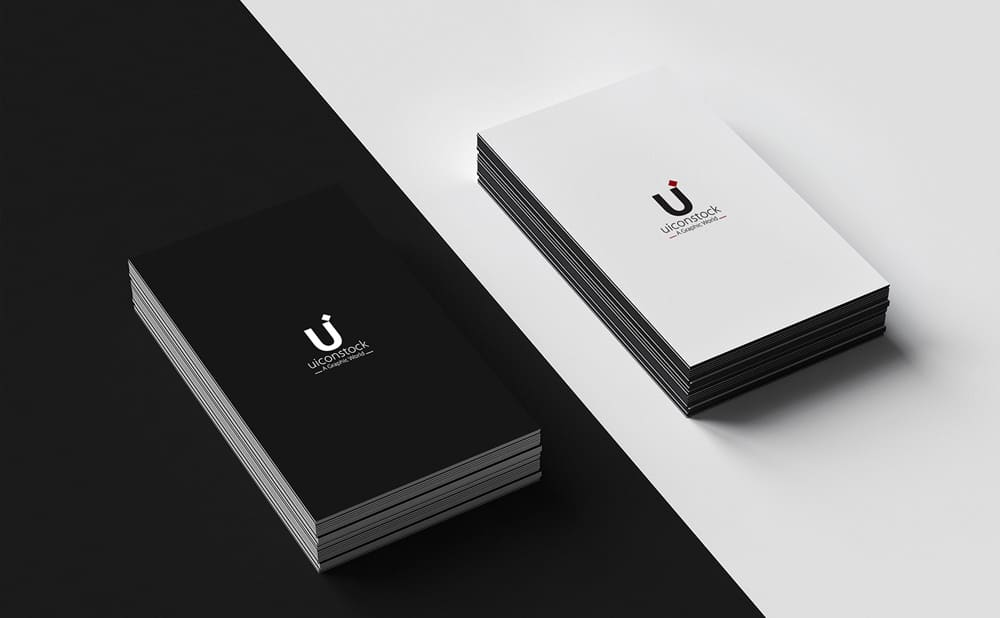 Free Flato Business Card Mockup PSD