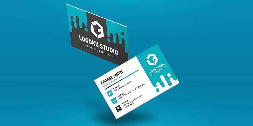 Free Floating Business Card