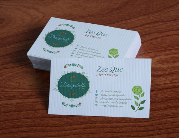 Free Floral Business Card Mockup PSD
