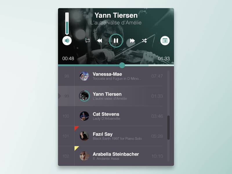 Free Music Player PSD