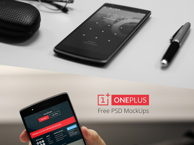 Free OnePlus One Mockups PSD