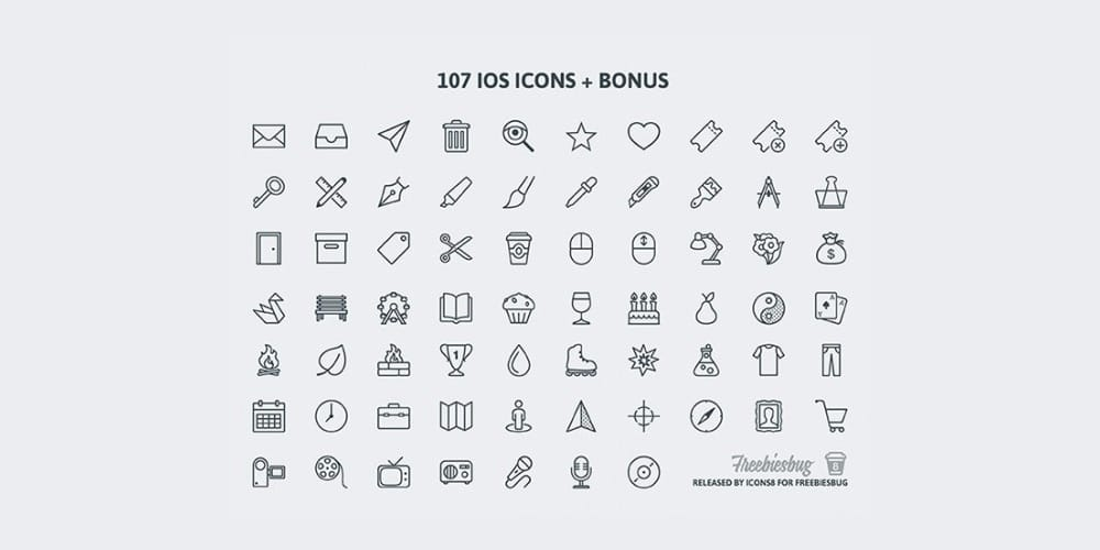 Free PSD Icons for iOS