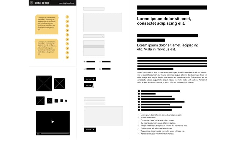 Free Photoshop Wireframe Kit PSD