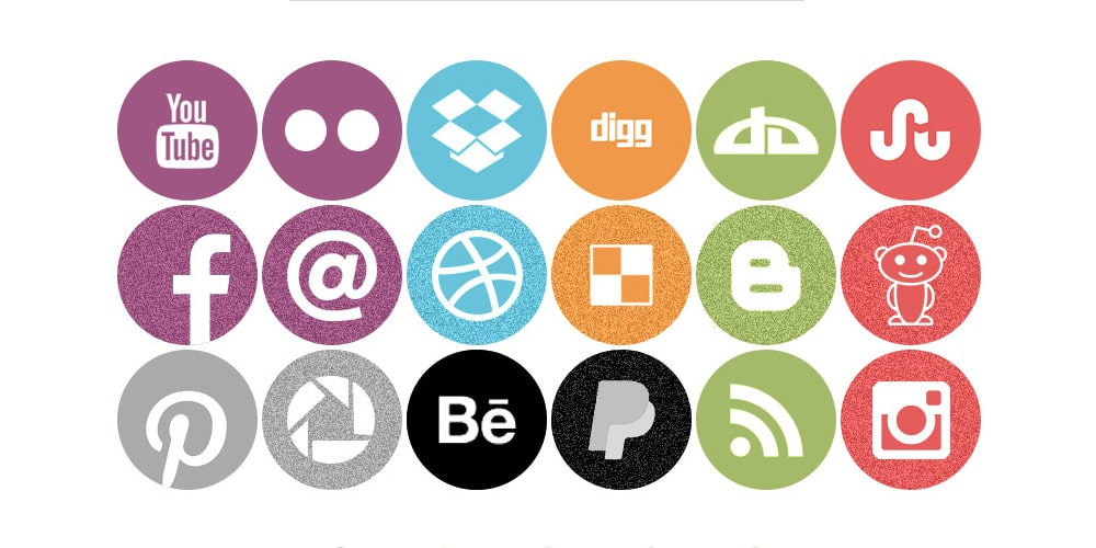 Free Round Flat Icons PSD