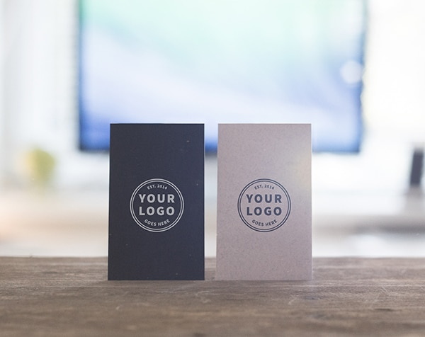 Free Standing Business Cards Mockups