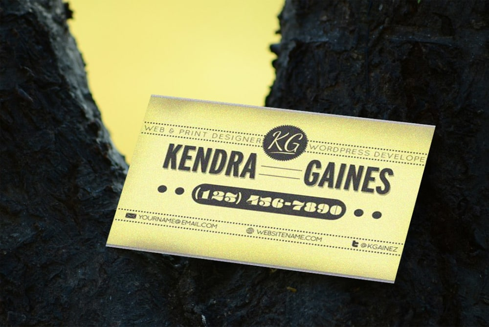Free Vintage Business Card Mockup PSD