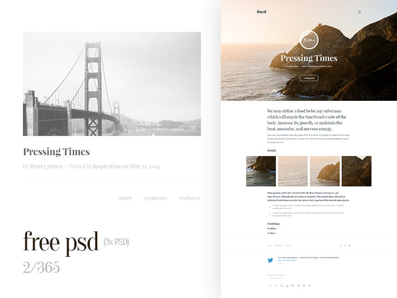Free Web Design Template PSD