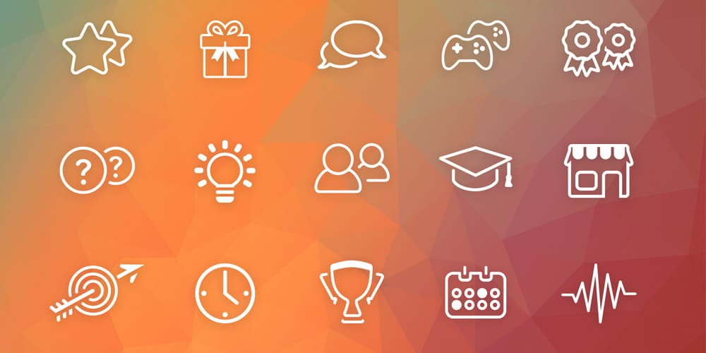 Gamification Icons PSD