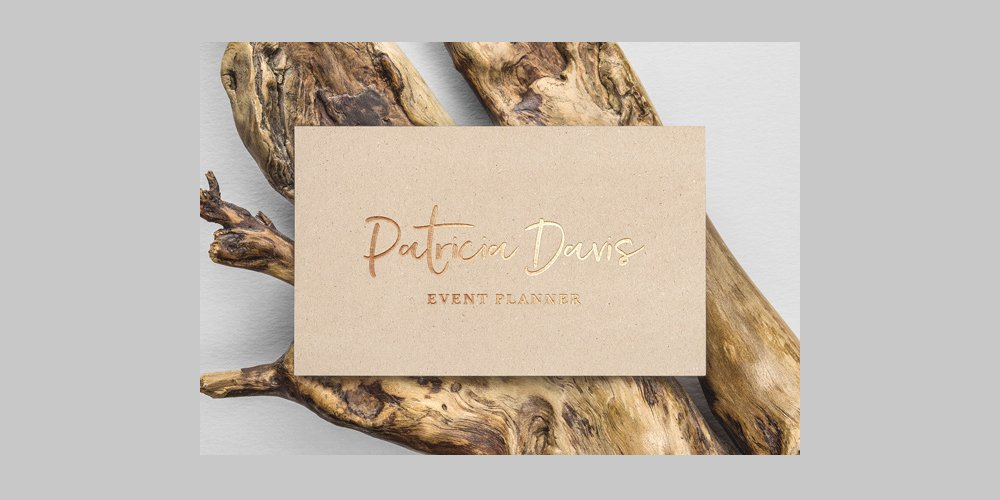 Gold Foil Business Card Mockup PSD