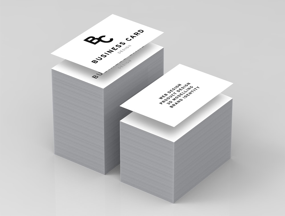 High Quality Business Card Mockup