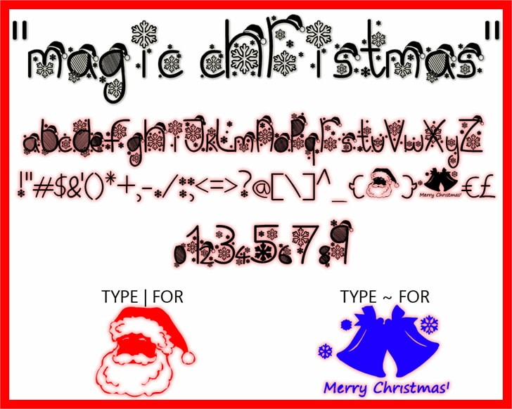 Magic Christmas font