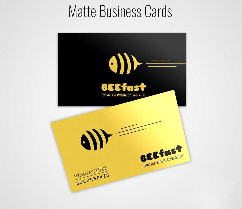 Matte Business Card Mockup PSD