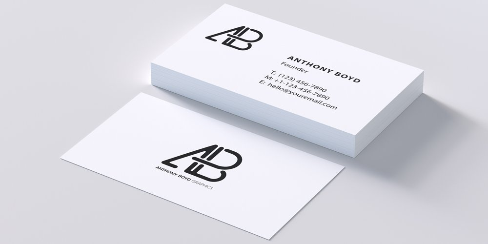 Modern Business Card Mockup PSD
