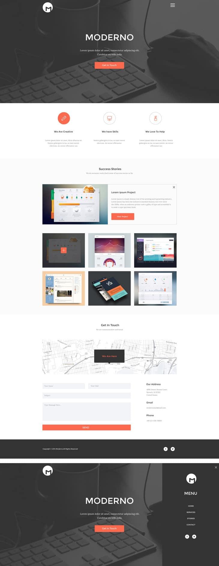 Moderno – Creative Simple Portfolio Page