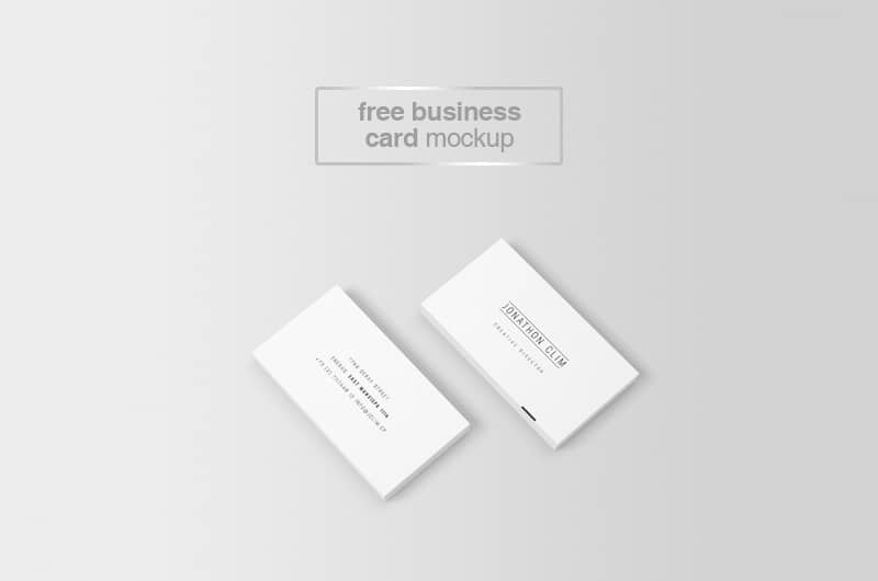 Perspective Business Card Mockup