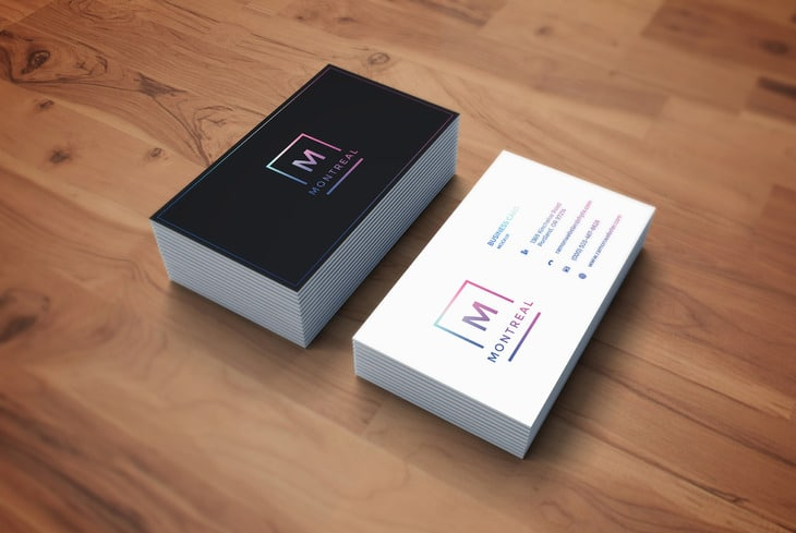 Photorealistic Business Card Mockup PSD