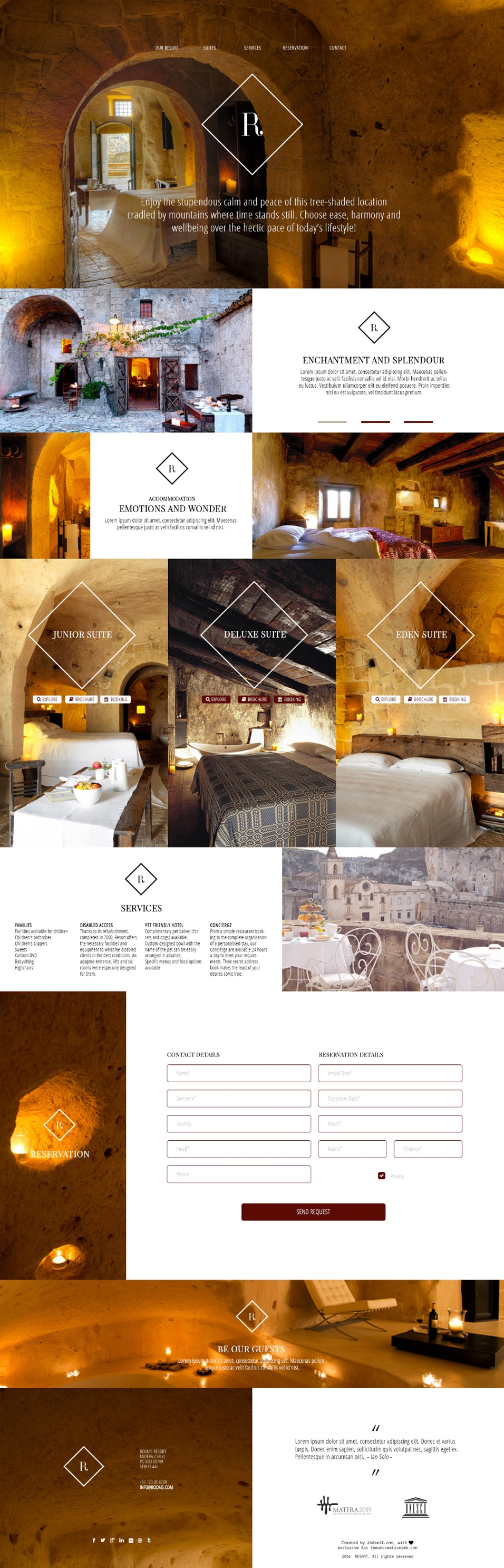 Resort - Free PSD Template