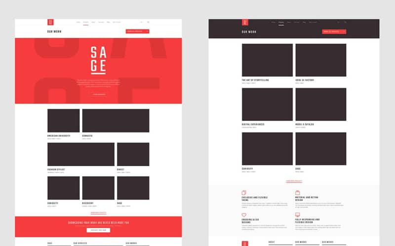 Sage Free Template PSD