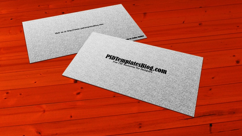 Simple Business Card Mockup Template PSD