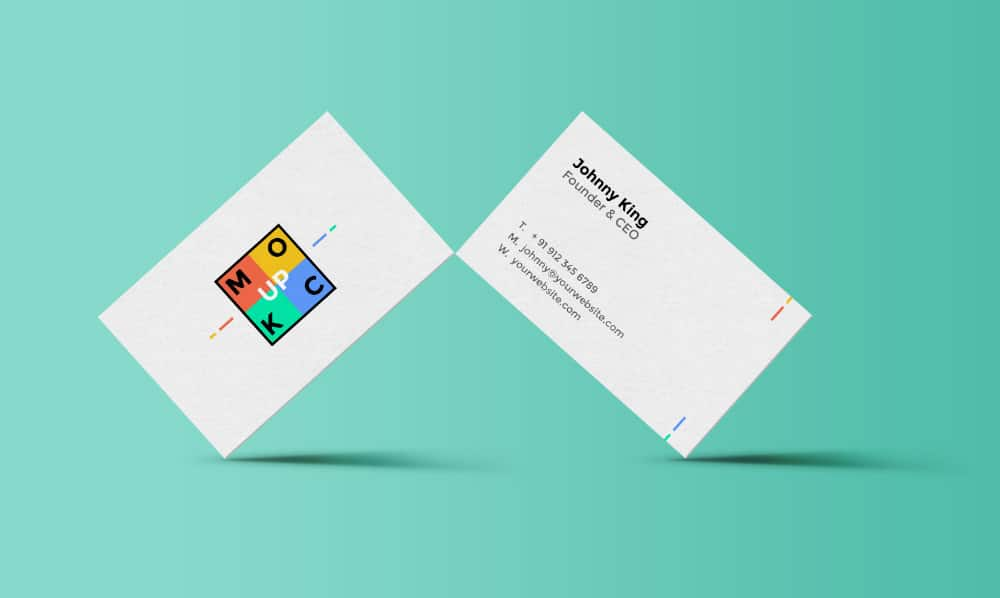 Standing Business Card Mockup PSD