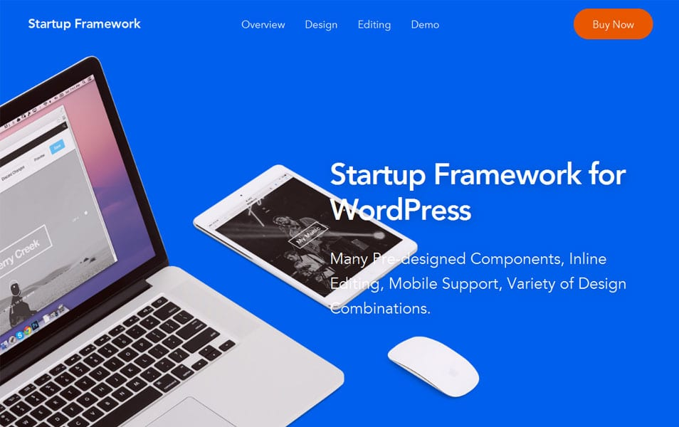 Startup Framework for WordPress - Drag & Drop Theme