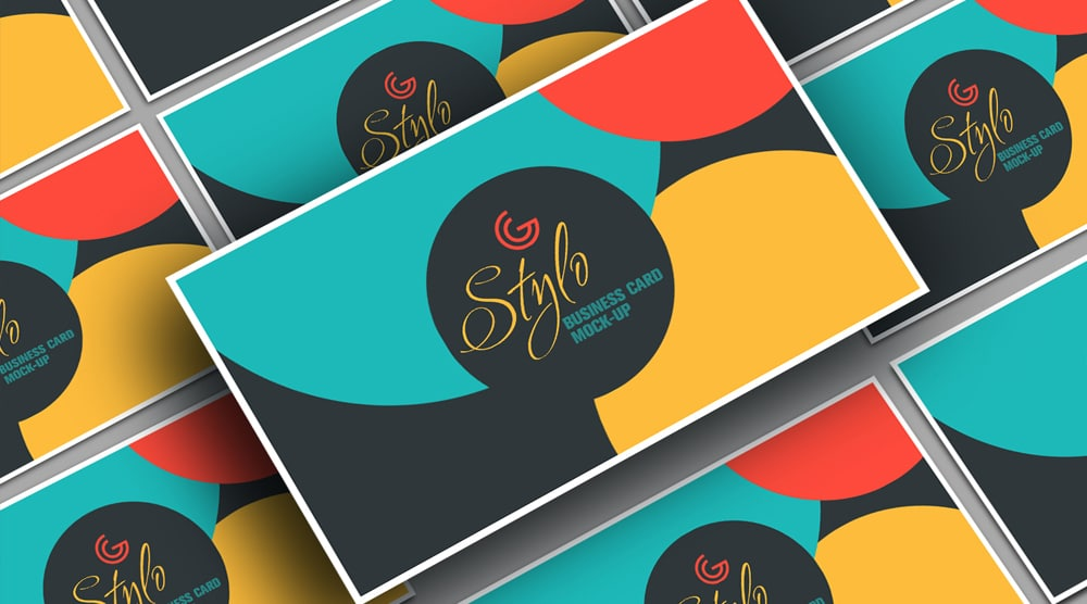 Stylo Business Card Mockup PSD