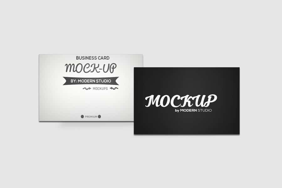 Three Free Business Card Mockups
