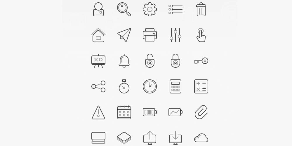 Two Grey Icons Set