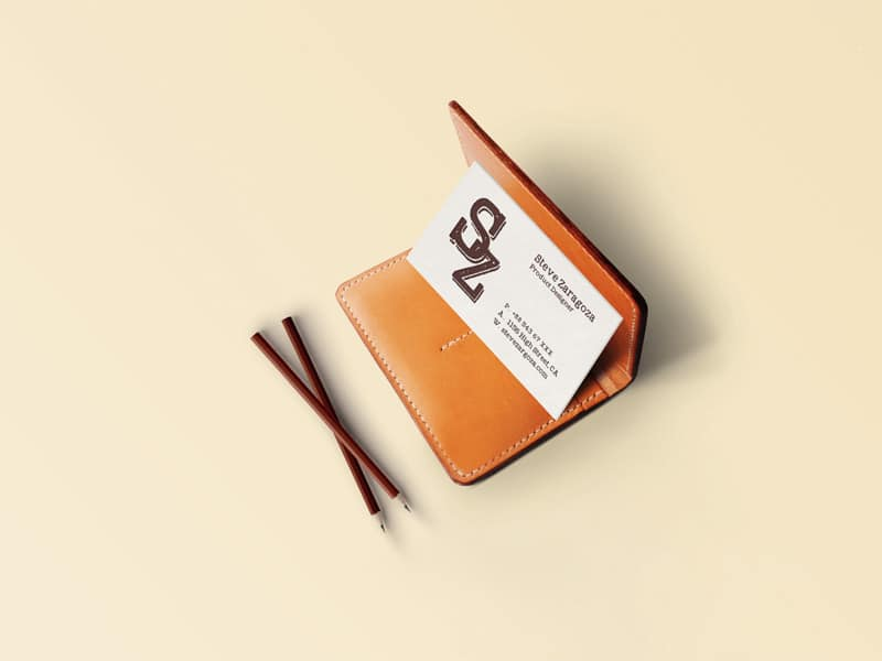 Vintage Business Card Mockup PSD