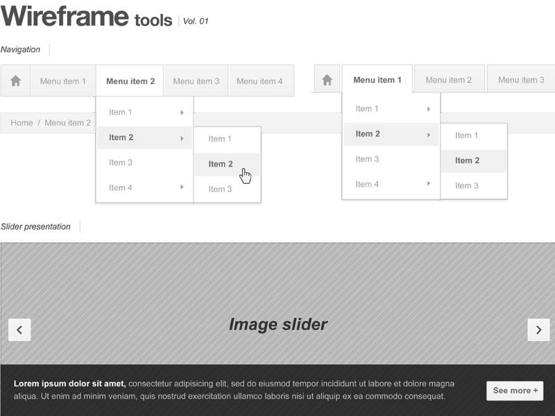 Webpage Wireframe Stencil
