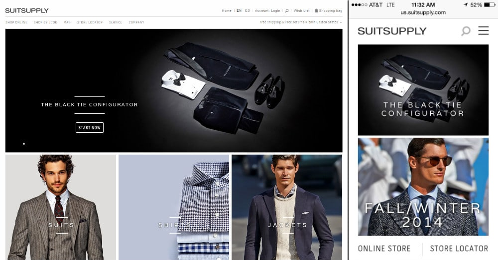 ecommerce suitsupply