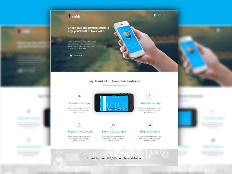 iPhone App Landing Page