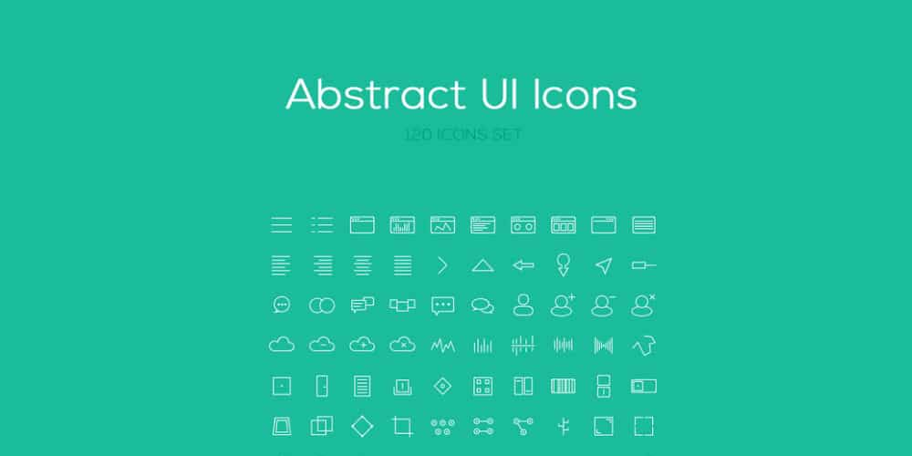 Abstract Icon Set PSD