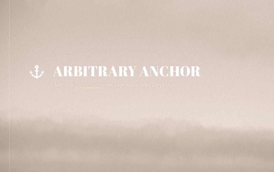 Arbitrary Anchor