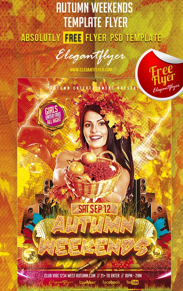 Autumn Weekends – Free Club Flyer Template PSD