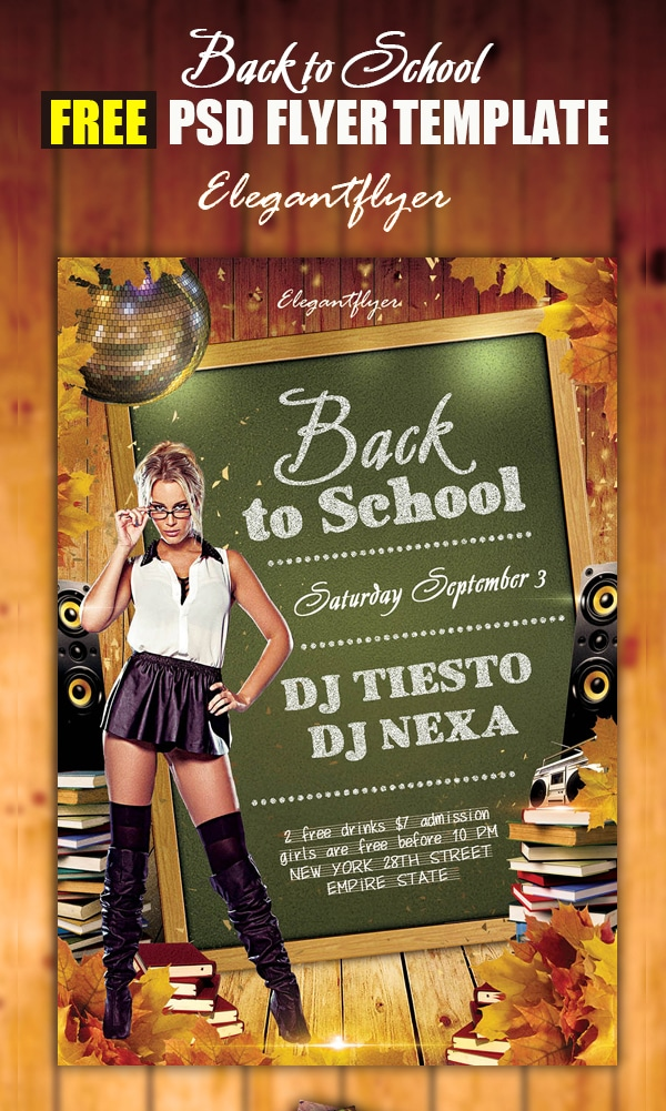 Back to School – Free Flyer Template PSD