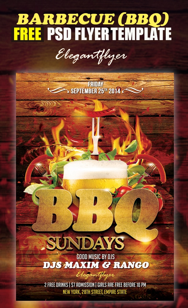Barbecue – Free Flyer Template PSD